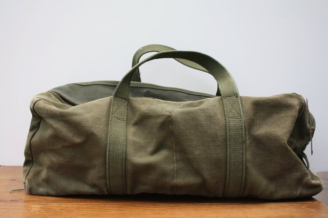 Vintage 1980 S Small Army Duffle Bag By Aniandrose On Etsy