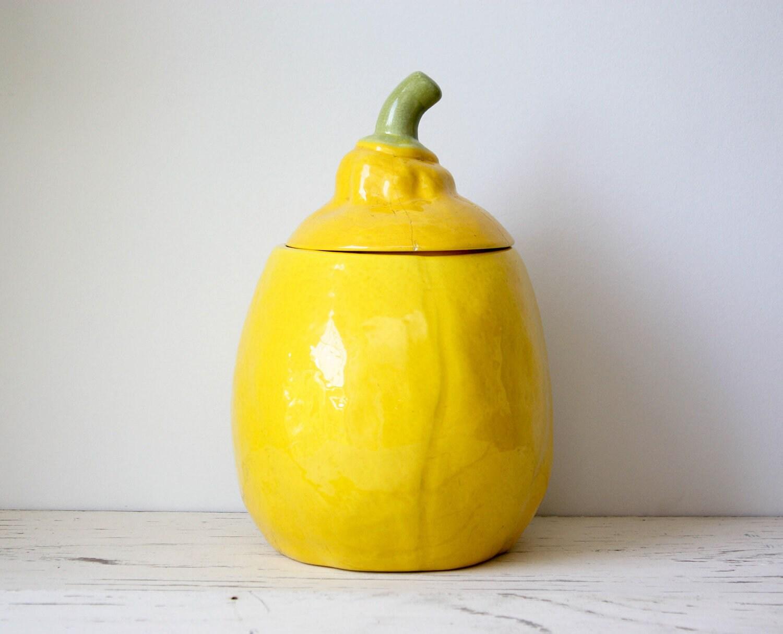 Vintage Lemon Shaped Cookie Jar By Gallymoggershoppe On Etsy