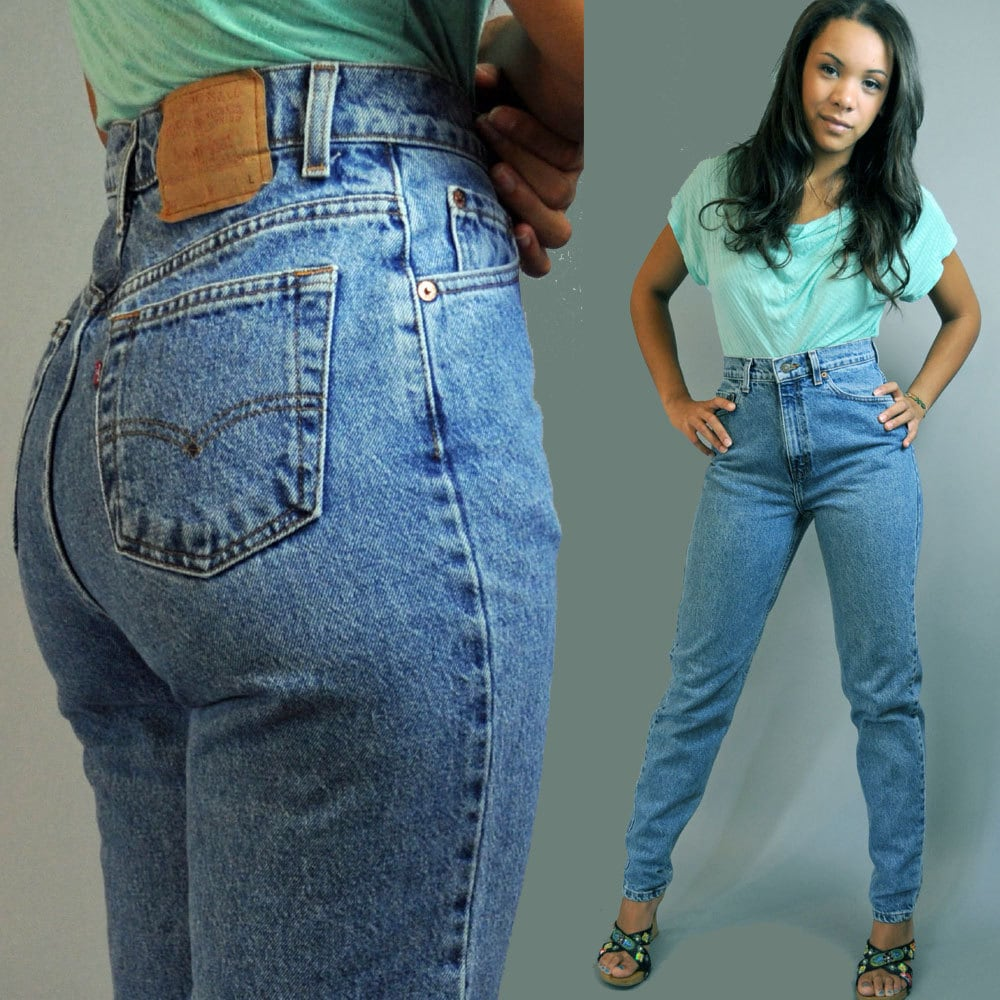 80s vintage high waisted jeans distressed by. Black Bedroom Furniture Sets. Home Design Ideas