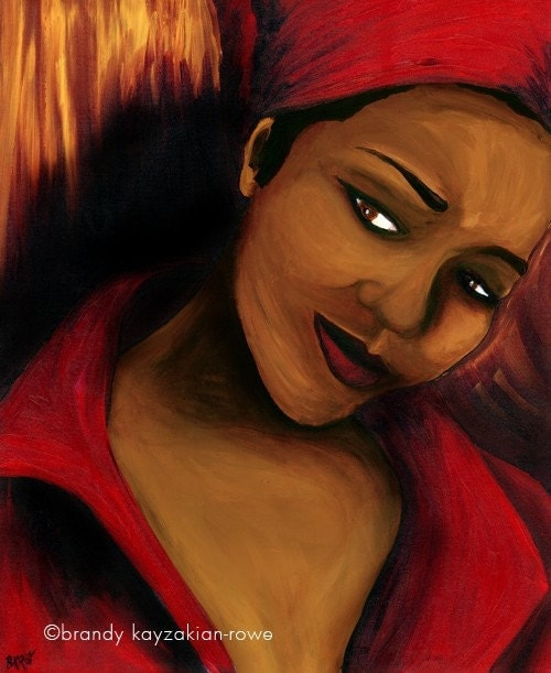 Items similar to India.Arie art print - African American ...