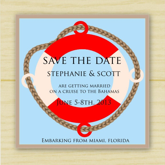 Destination Wedding Save the Date (set of 10)