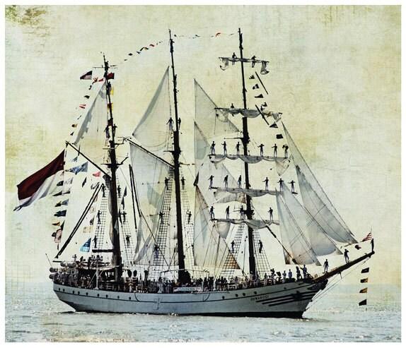 ship photography, sail boat, sailing, ocean, textures - BleuOiseau