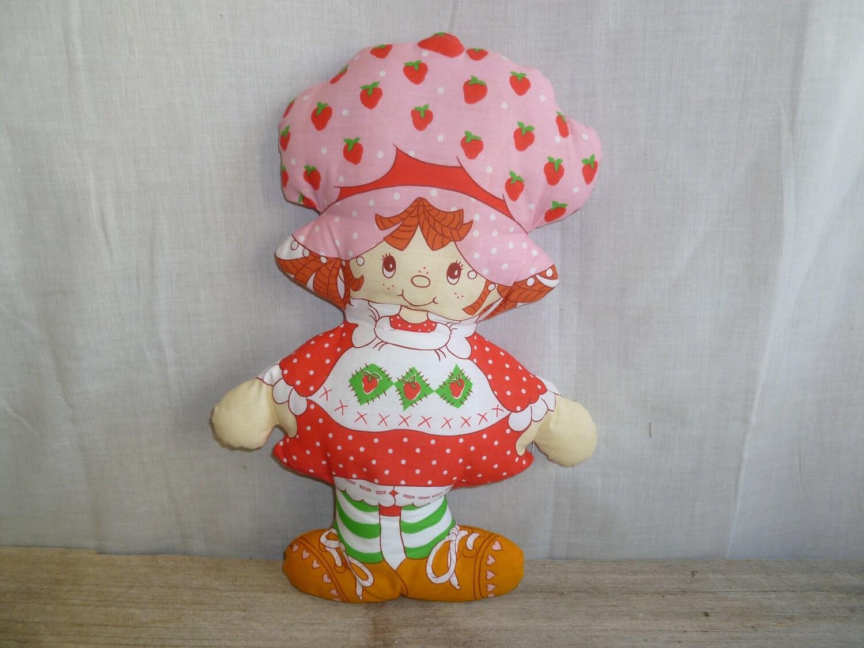 Vintage Strawberry Shortcake Cloth Doll by silverliningtoys