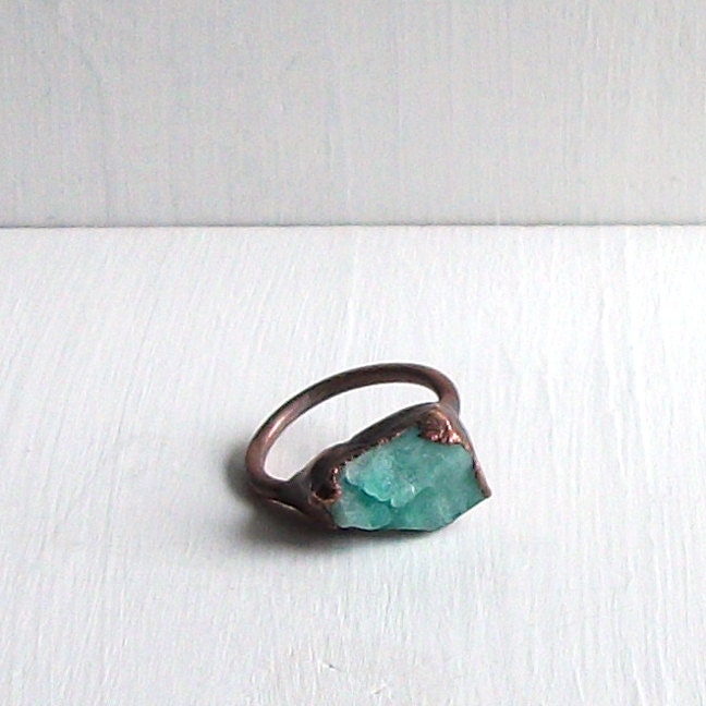 emerald ring copper shamrock gemstone ring may by