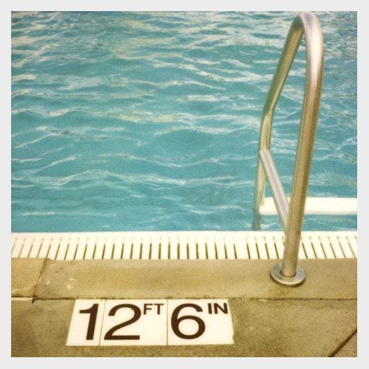 Polaroid Photograph - Swimming Pool - Summer - Deep- Orginal Signed Fine Art Photograph - AliciaBock