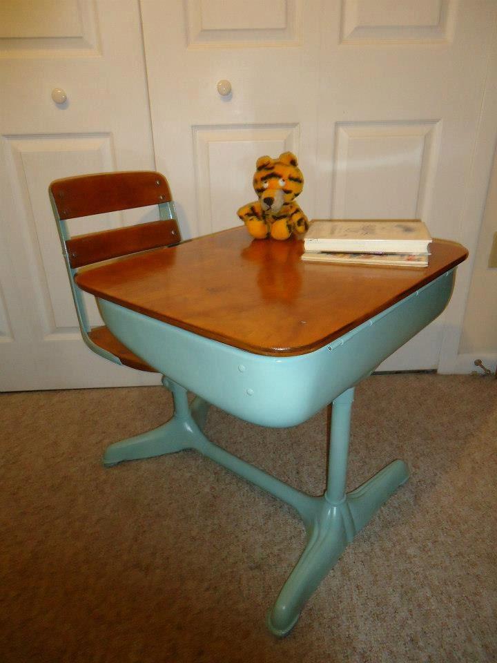 Reserved Sold School Desk Upcycled Vintage By Homealonevintage