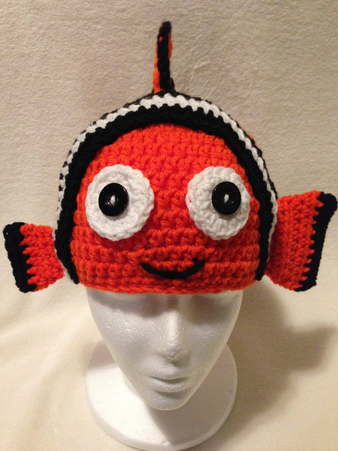 Nemo Inspired Crochet Hat Toddler/Kids by ToqueFairies on Etsy