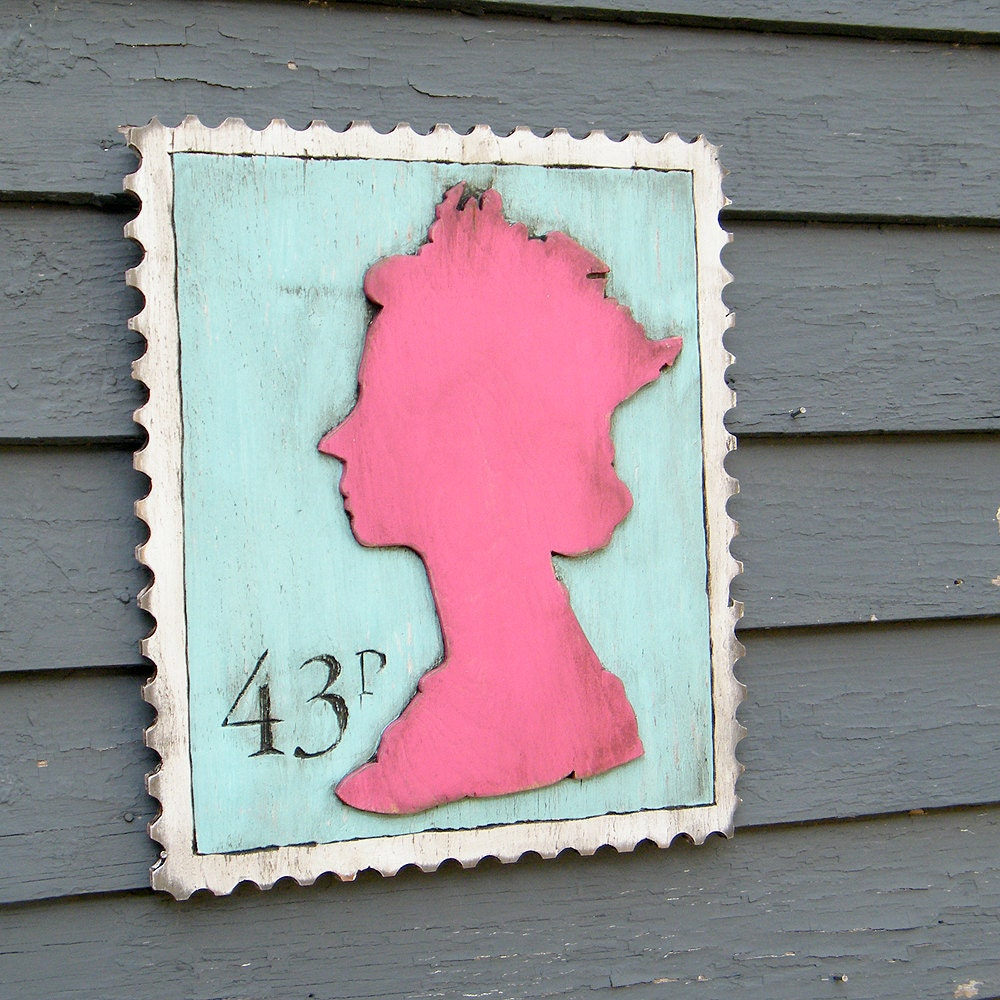 Queen Wall Art Queen Elizabeth Stamp Sign - SlippinSouthern
