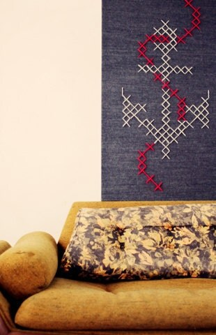 Giant Anchor Cross-Stitch