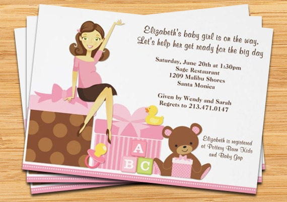 cute pregnant mom baby shower invitation by eventfulcards on etsy