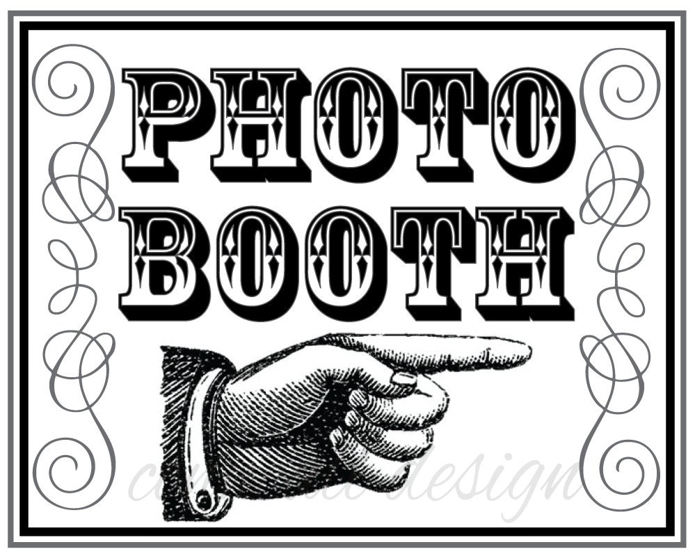 Comprehensive image throughout photo booth sign printable
