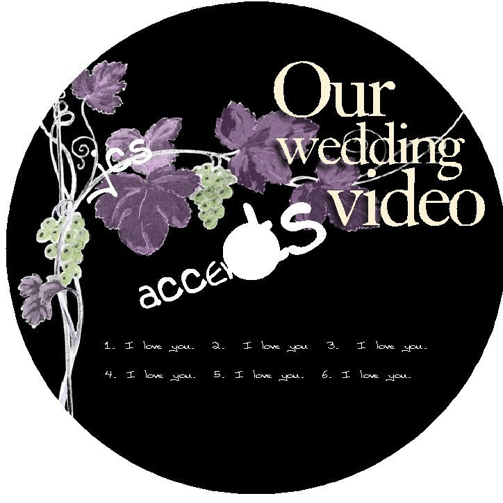 Personalized Wedding CD DVD Label Do it Yourself Electronic File