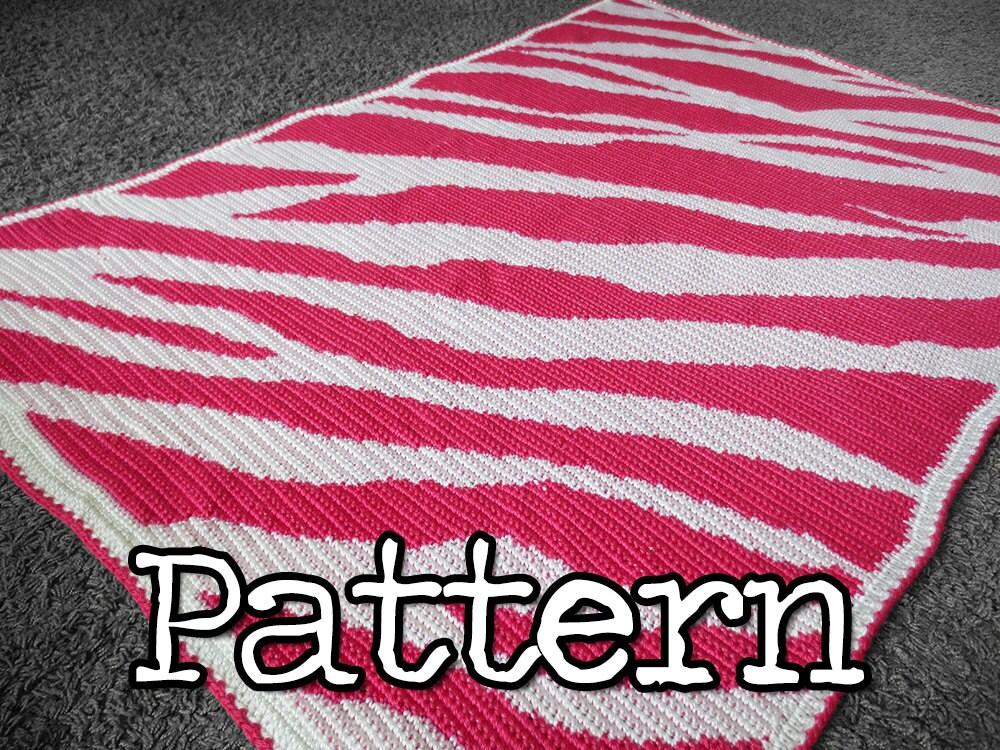 NEW CROCHET ZEBRA PATTERN AFGHAN Crochet