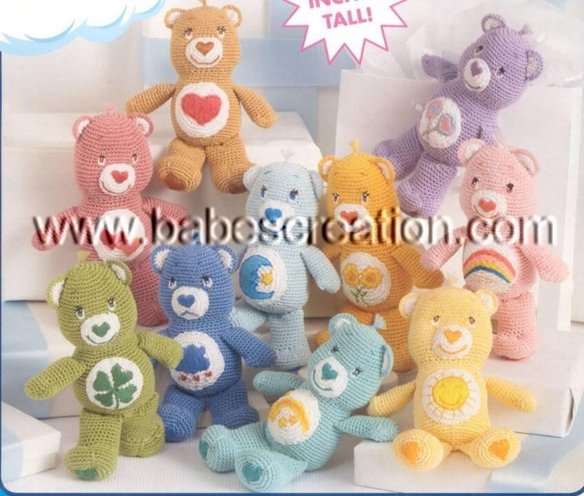 Amigurumi Care Bears Pattern : 50% OFF Sale Mini Care Bears Amigurumi Pattern: by ...
