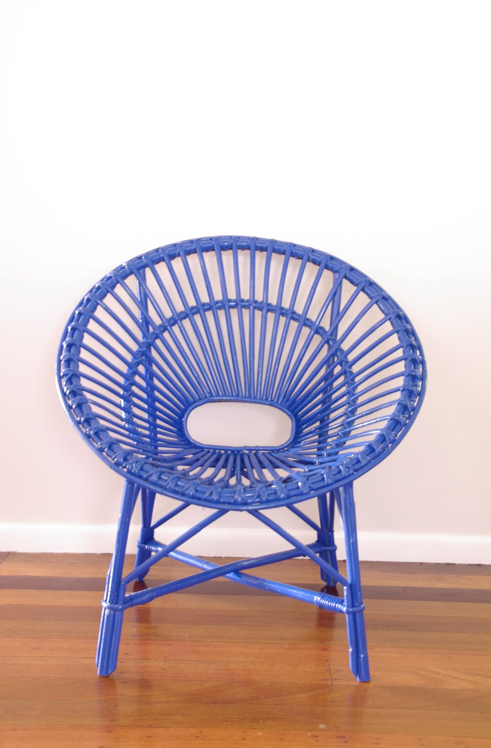 CUSTOM Upcycled Vintage Cane Saucer Chair - NeonVintageDesign