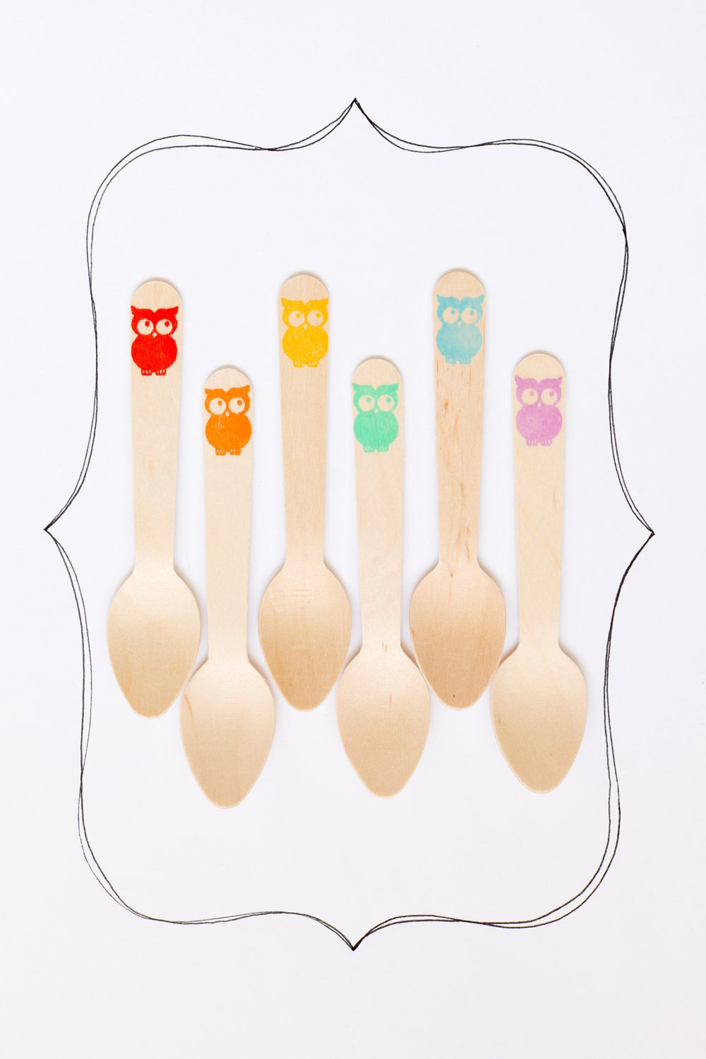 Wooden Ice Cream Spoons Owls by Sucre Shop