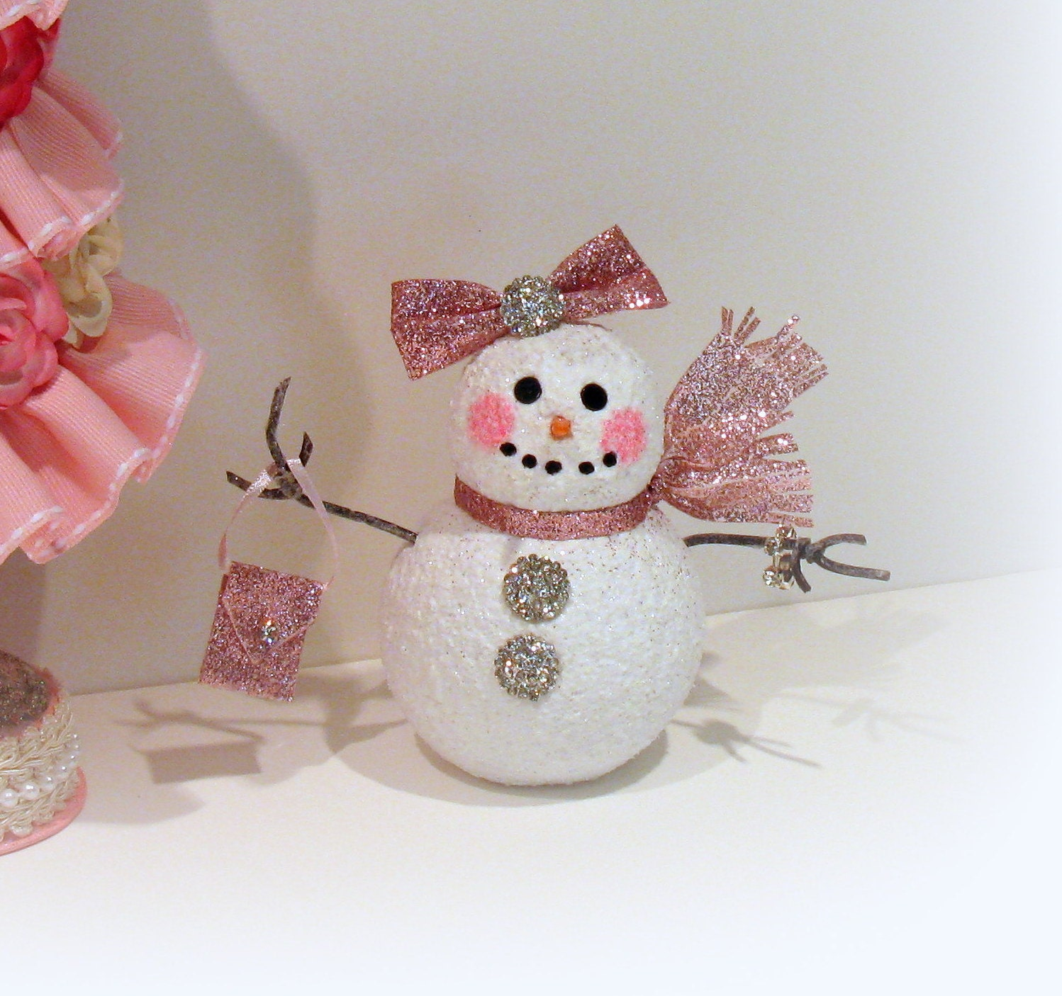 Shabby Chic Christmas Decoration By Uniqueboxboutique On Etsy