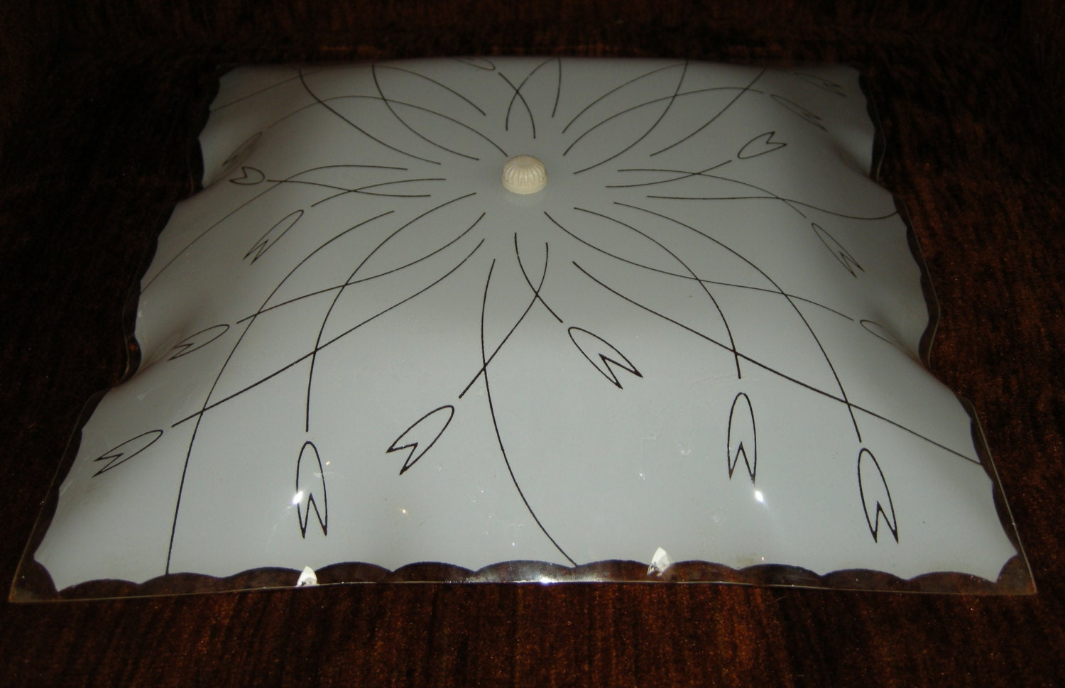 Ceiling Light Cover Only : Vintage glass ceiling light cover by treasurehuntingmama