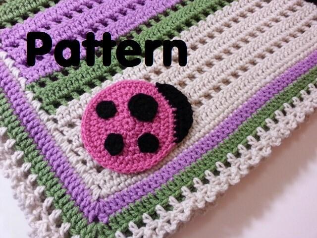 Baby Crochet Patterns Etsy : PATTERN Crochet Baby Ladybug Blanket by PoochieBaby on Etsy