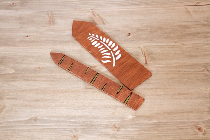 Wooden Bookmarks set of 2 woodland, back to school - ArtGlamourSligo