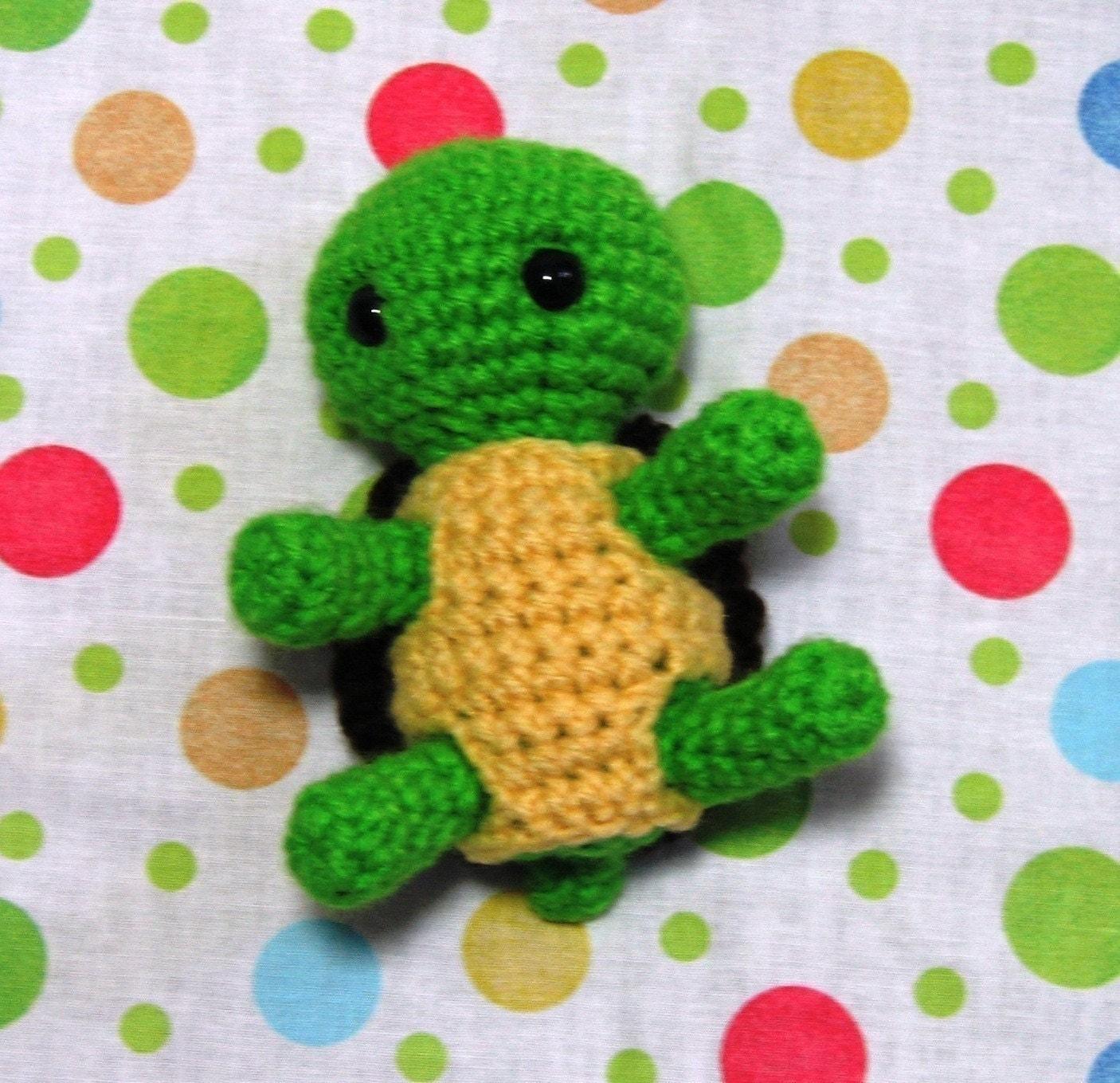 Items similar to PDF CROCHET PATTERN - Baby Turtle on Etsy