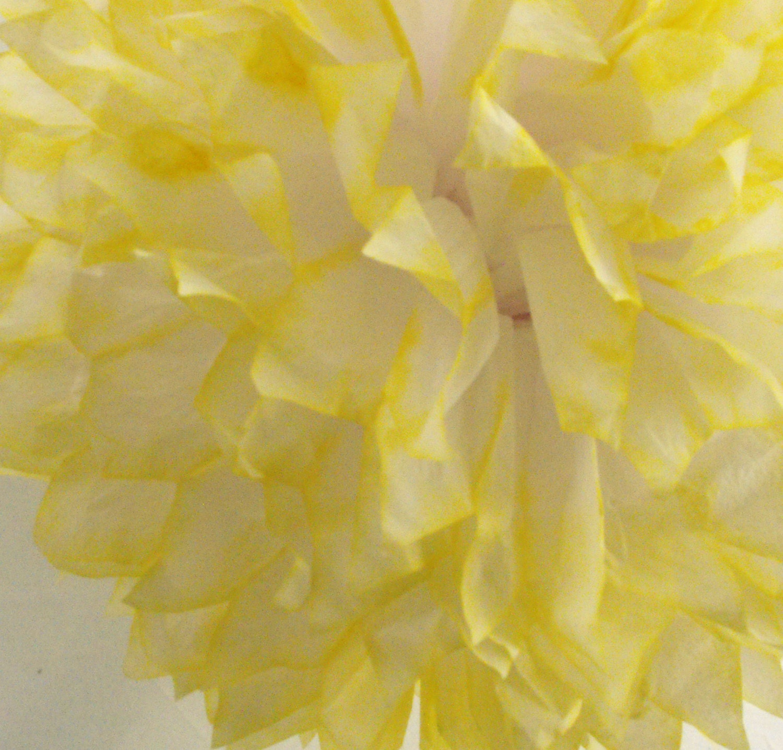 Lemon Yellow Pom / Wedding Decoration  / Birthday / Party Decoration / Baby Shower Decoration / Nursery Decoration - HandDyedPoms