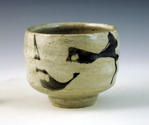 teabowl with brushwork