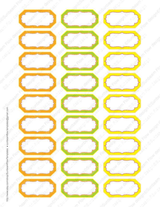 "... Labels Digital Collage Sheet Printable Editable Jpg 2 x 1"" pyo DIY"