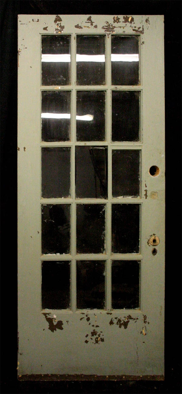 Items Similar To 32 X80 Antique Pine French Exterior Entry Door Wavy Glass Lites Windows Panes