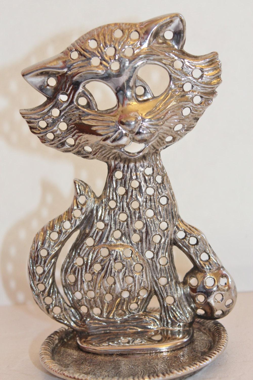 vintage earring holder cat jewelry tree by losttreasures2u