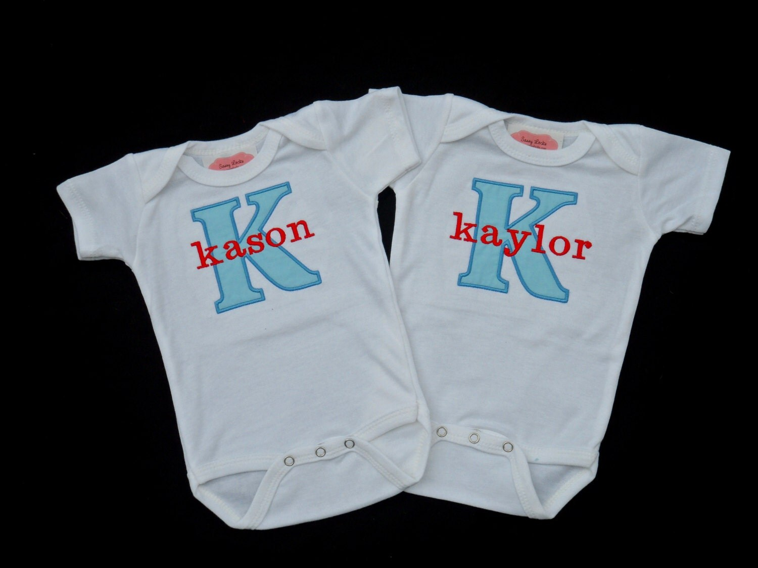 Items similar to Twins Outfits Personalized Baby Boy