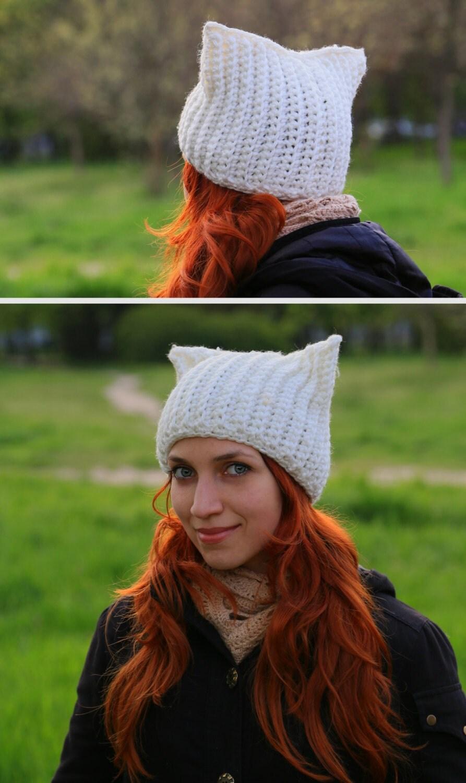 Вязаные женские шапки с ушками или завязками Вяжем с Лана Ви 34