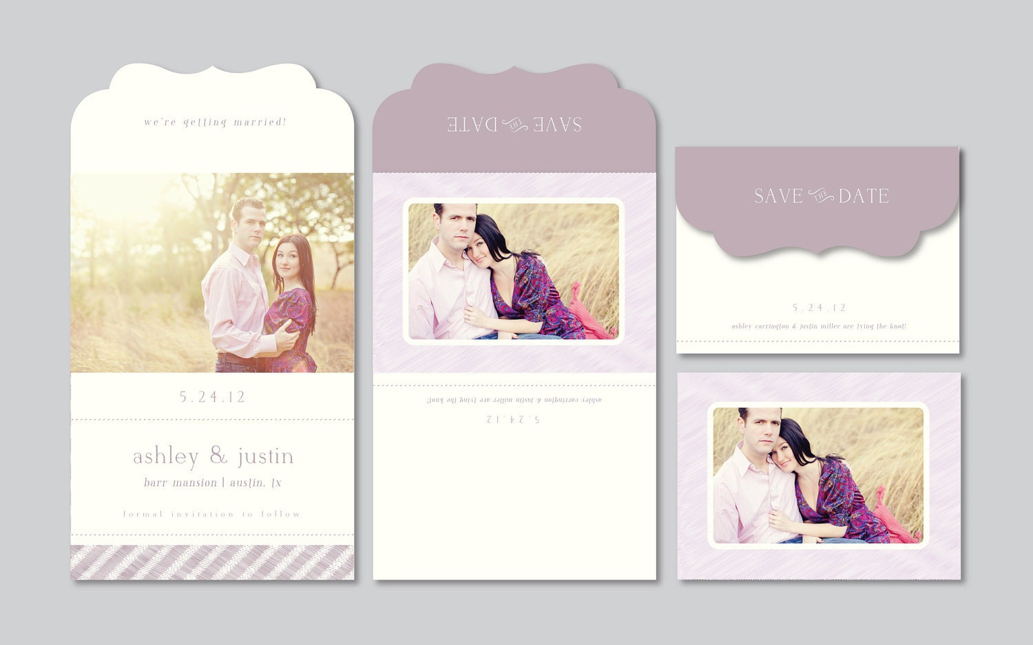 electronic save the date template - modern save the date photography template by