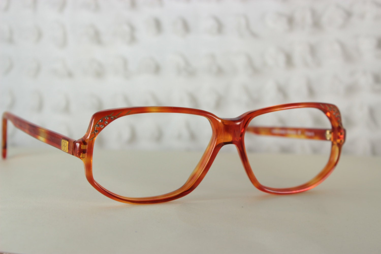 Designer Eyeglass Frames With Rhinestones : Vintage 80s Glasses 1970s Balenciaga Rhinestone by DIAeyewear