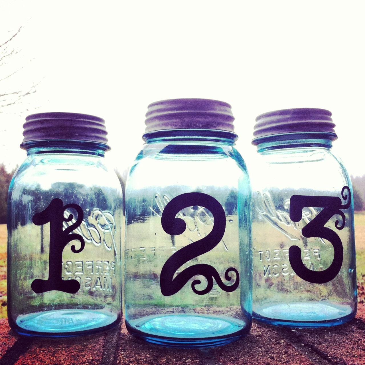 Mason Jar Wedding Centerpiece Table Numbers Vinyl Wedding Table Numbers Wedding Centerpiece Table Numbers Mason Jar Wedding Table Numbers
