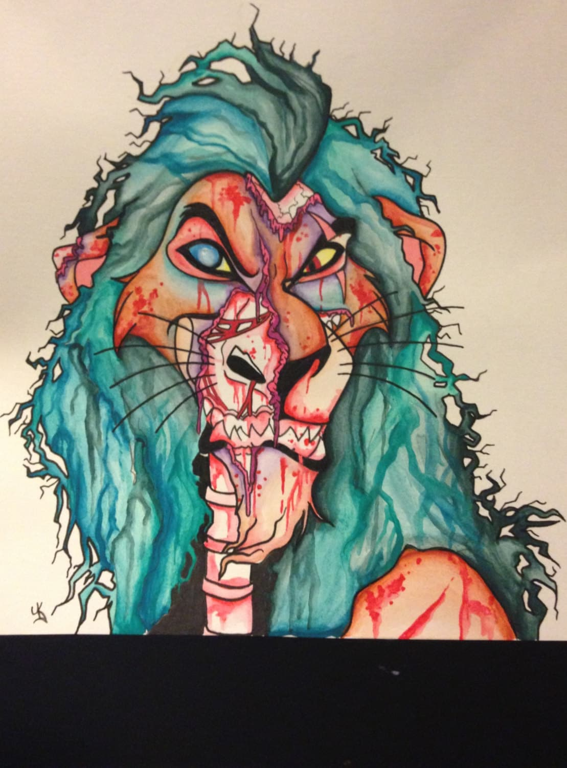 10x10 Framed Zombie Scar Disney The Lion King by ...