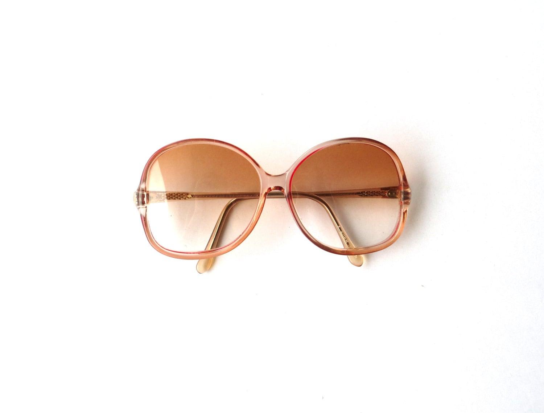Large Vintage Eyeglasses / Red Ombre - almondtreevintage