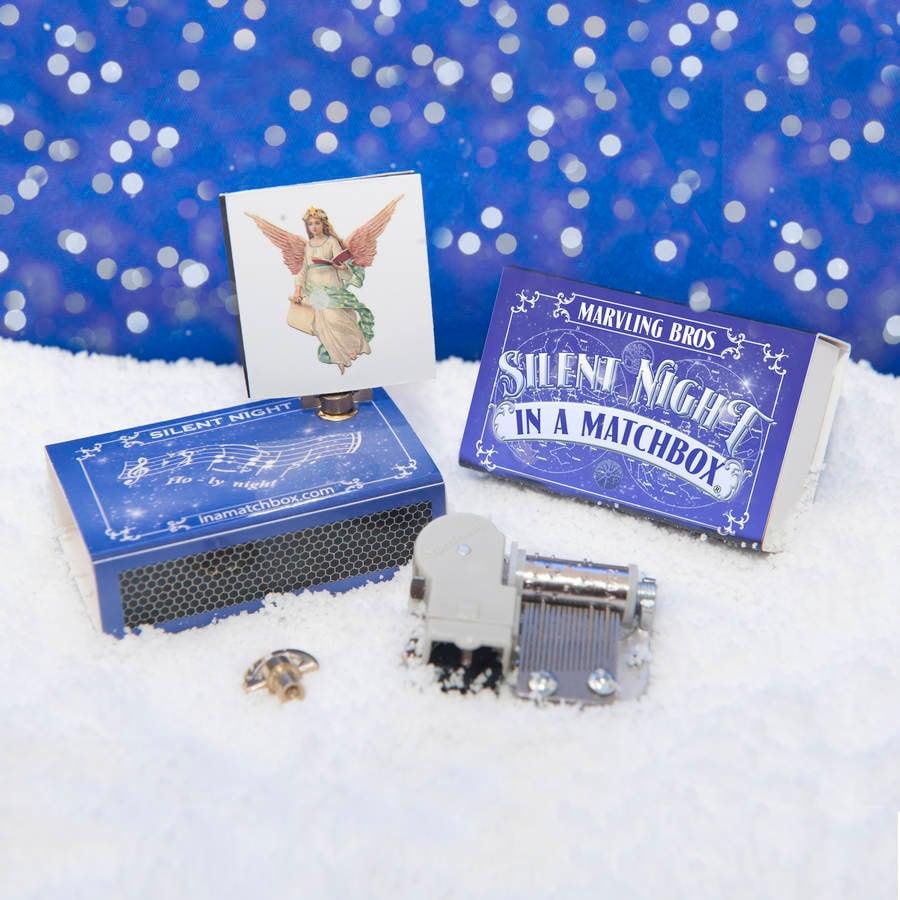 Christmas Music Box In A Matchbox, Stocking Stuffer, Secret Santa, Christmas Gift For Her, Kids stocking filler, Make Your Own Kit