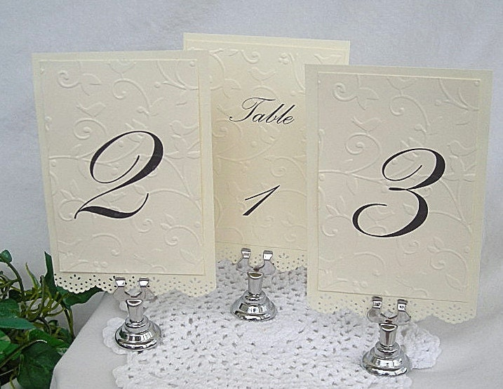 Wedding Table Card Holder, Reusable Cast Iron, Classy Elegant Place Card or Menu Holders, 10 Piece Set