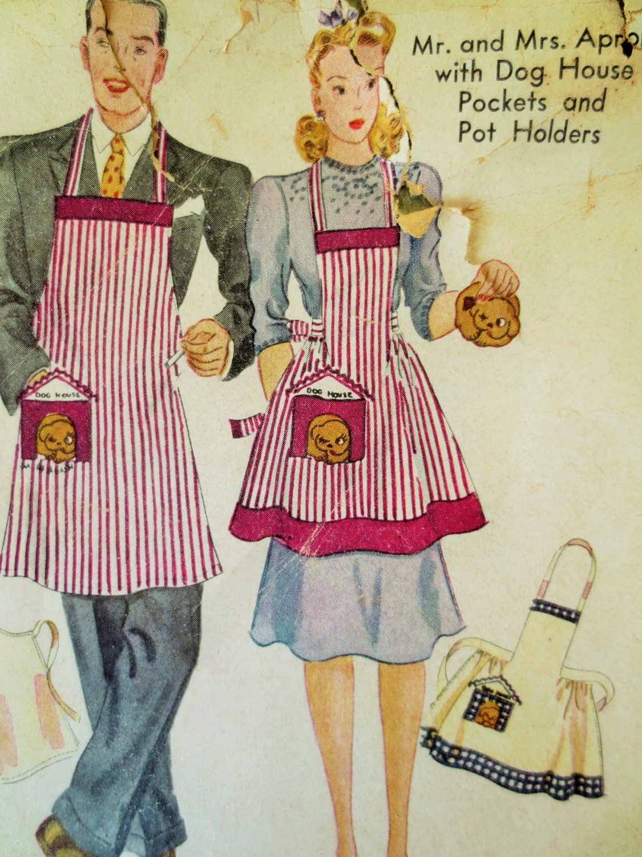 30 Free Vintage Apron Patterns SEWING Pinterest Vintage 24