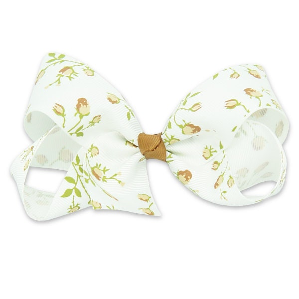 Boutique bow brown flower hair clips for kids hair clips accessories clips