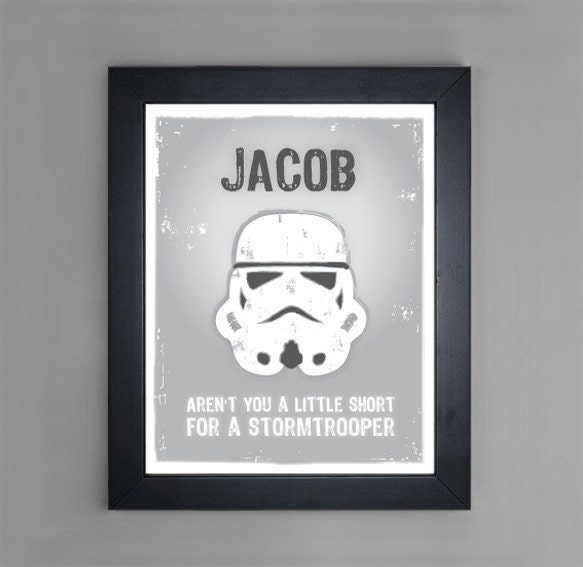 Star wars stormtrooper personalized art by mytinytotcreative for Star wars kids room decor