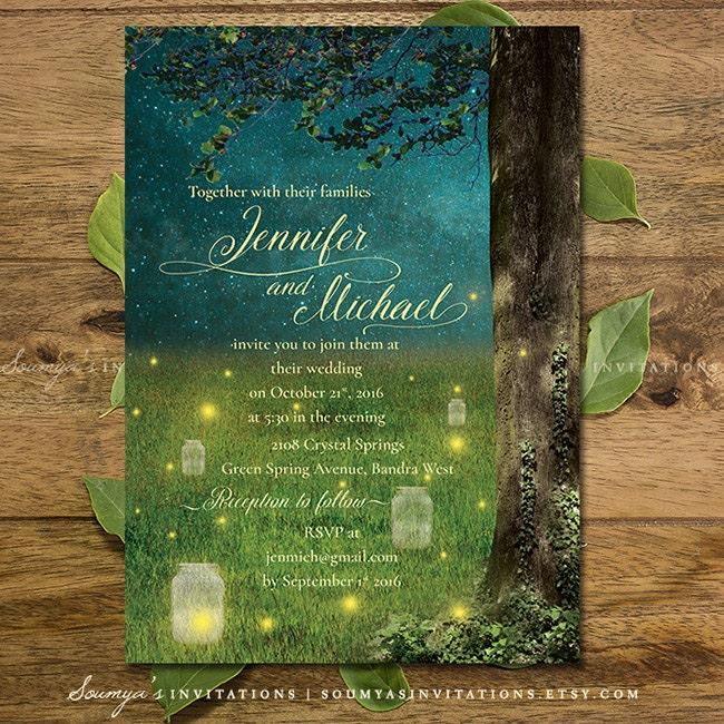 Enchanted wedding invitations