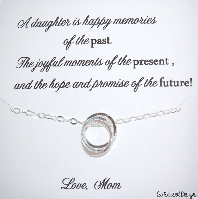 ... Sterling Silver, Sentimental Gift for daughter, To daughter from Mom