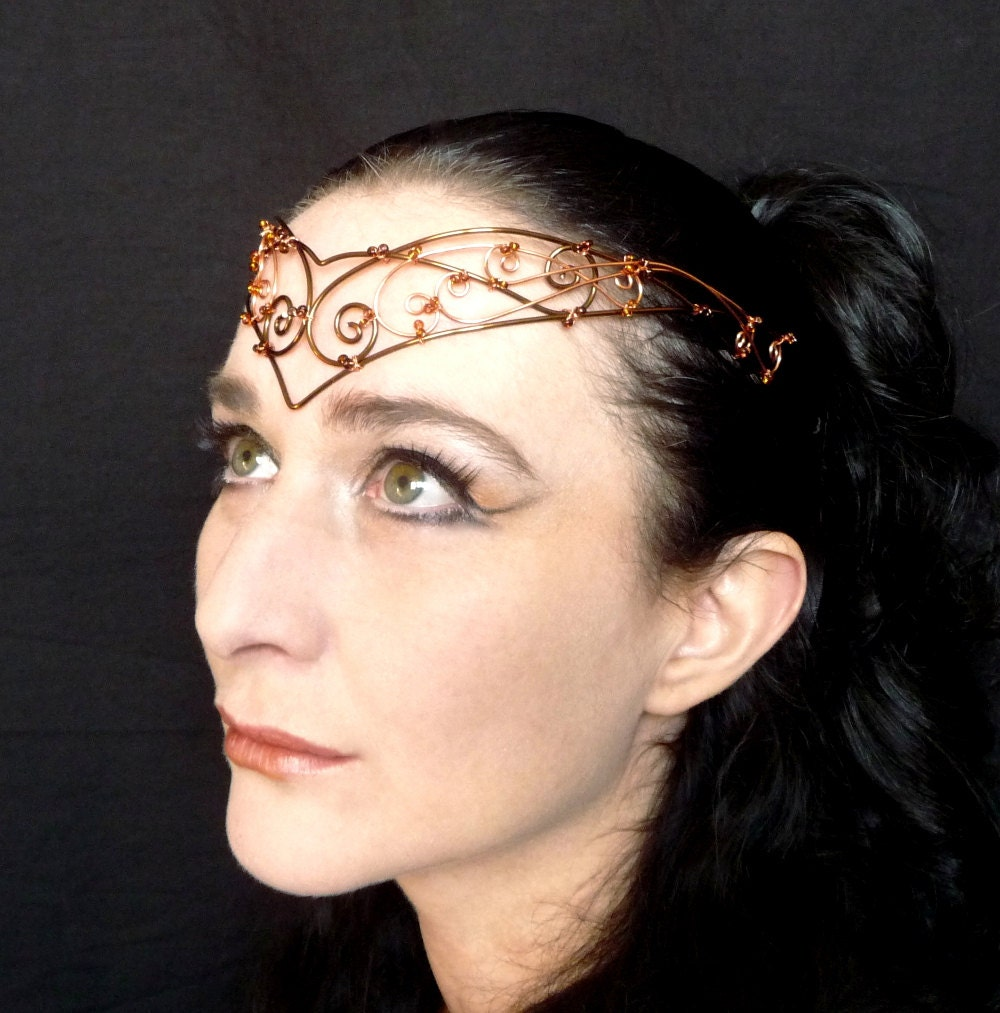 Copper and bronze circlet, steampunk, Womens, Accesories, headband, handmade