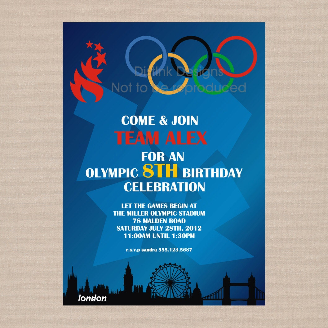 Items Similar To SALE Olympic Games Party Invitation