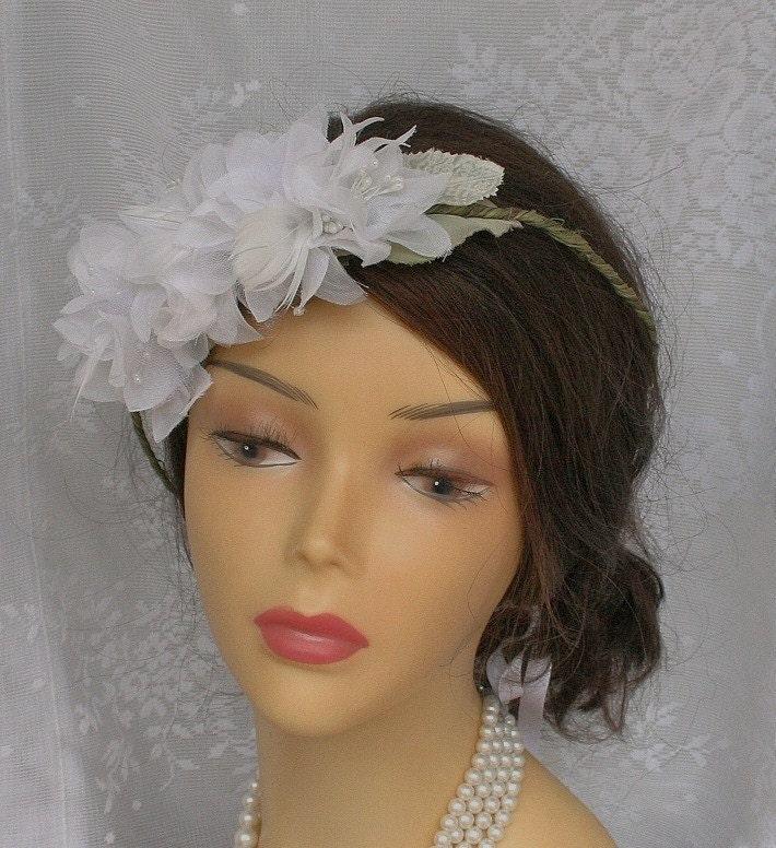 Bridal Hair Wreath Bridal Headband Woodland Wedding Headpiece
