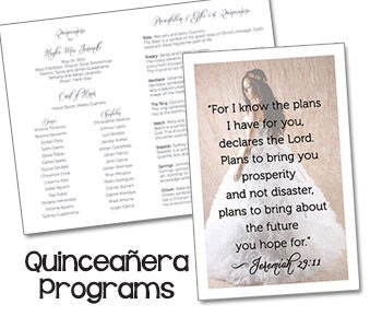 Quinceanera invitations on etsy a global handmade and for Sweet sixteen program template