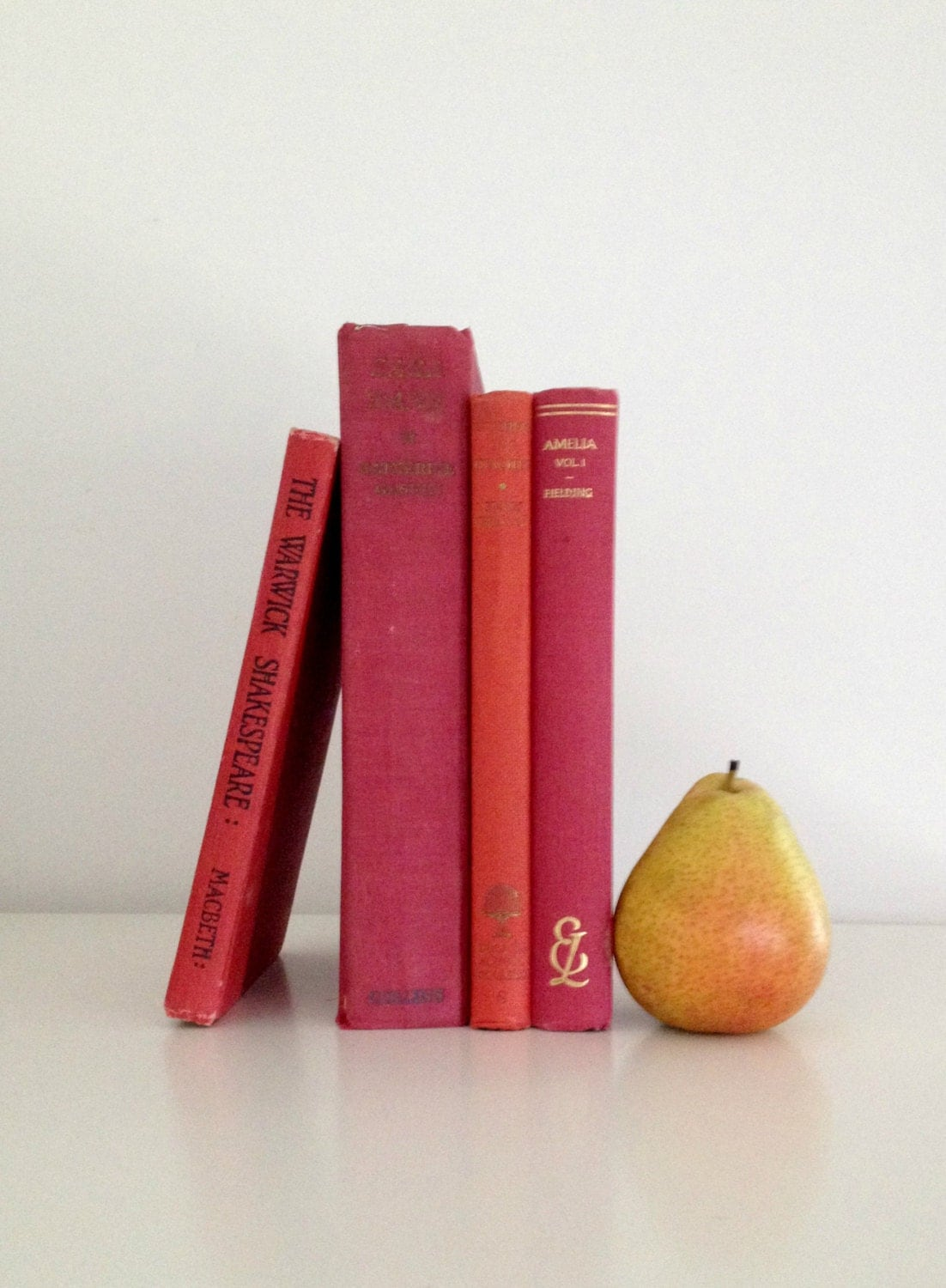 vintage hardcover shades of red book collection - rosyrandom