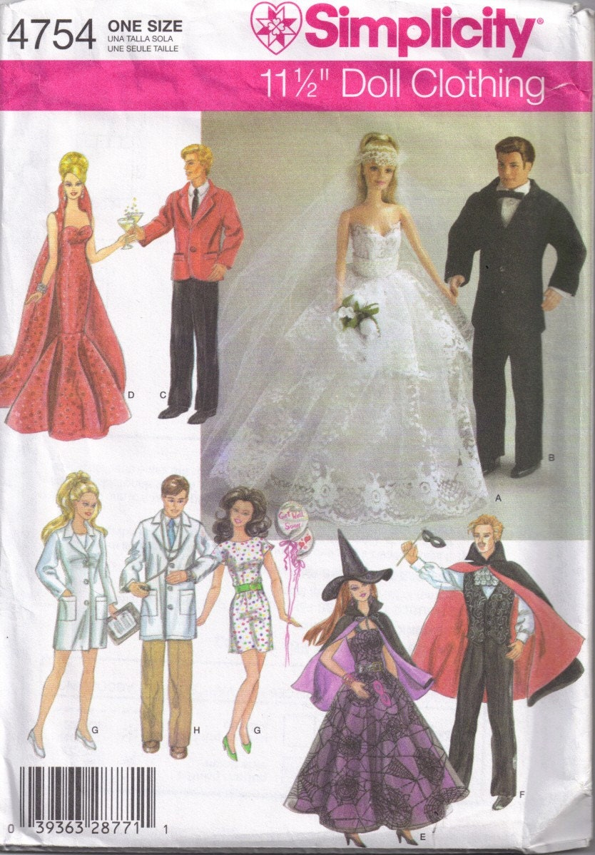 It is a picture of Légend Ken Doll Clothes Patterns